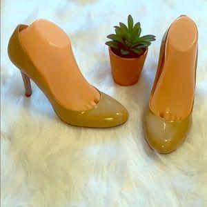 Nine west nude high heels 👠